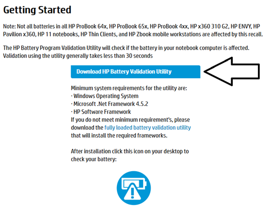 HP Laptop battery recall 2019 - IMPORTANT PRODUCT SAFETY INFORMATION